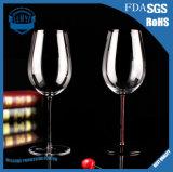 cálice fundido do vidro da cor do vidro de vinho do copo do vinho do Bordéus 600ml mão de cristal sem chumbo