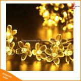 モモの花20/30/50のLEDs庭のクリスマスの休日のパーティの結婚式のための太陽動力を与えられたストリング装飾的なライト