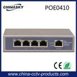 Переключатель миниые 4 Port Poe поддерживая камеру Poe WiFi Ap и Poe Ipphone Poe Ipc (POE0410)