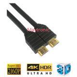 24k de alta velocidad con Ethernet por cable HDMI chapado en oro