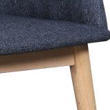 의자 (W13871-2)를 식사하는 오크 다리 직물