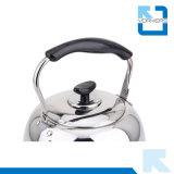 Acqua dell'acciaio inossidabile e caldaia di tè popolari con la maniglia nera fredda