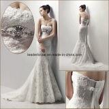Vestido de casamento nupcial personalizado sereia Ns15 do vestido de casamento do laço de Alencon