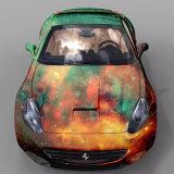 La bolla di aria di vendita calda di 1.52*30m Star liberamente l'automobile del lampo e della galassia che sposta l'autoadesivo dell'involucro del vinile dell'automobile del PVC per il corpo di automobile