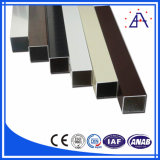 tubo di alluminio quadrato rivestito della polvere 6063-T5/tubo di alluminio rettangolare