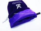 Flocage de tissu brodé avec un sac en boule de corde en satin