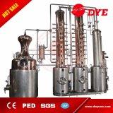la destilería de la vodka de la columna del alcohol del cobre del vapor 2000L para la venta hace el metanol cómo todavía construir