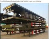 3axles 60tonsの積載量の容器のトレーラー
