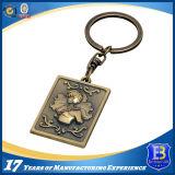Anello chiave del metallo su ordinazione di marchio per i regali di promozione