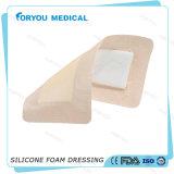 Gomma piuma del silicone del bordo della fasciatura che veste la FDA del Ce