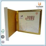 Boîte en carton estampée par coutume avec le couvercle articulé