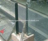 유리제 방책을%s 6mm+6mm 편평한 Tempered 박판으로 만들어진 유리