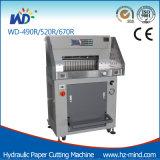 De professionele Scherpe Machine van het Document van de Snijder van het Document van de Fabrikant (wd-490R) Hydraulische