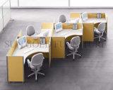 Poste de travail en verre de bureau de bâti en aluminium de modèle moderne (SZ-WST796)