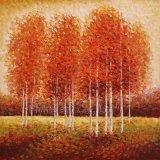 Peinture à l'huile abstraite de reproduction pour l'arbre (ZH3452)