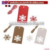Árbol de navidad de papel del ornamento de la etiqueta etiquetas etiqueta impresa (P4147)