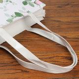 2 Größen PVC wasserdichte Blumenmuster PU Einkaufstaschen