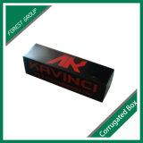 Caixa de transporte ondulada preta impressa personalizada