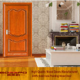 赤いカラー塗られた固体木部屋のドア(GSP6-005)