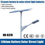 Indicatore luminoso di via solare dell'ibrido LED del vento luminoso eccellente con la batteria di litio
