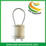 Kundenspezifischer preiswertester fördernder Metallverschluß geformtes Keyholder