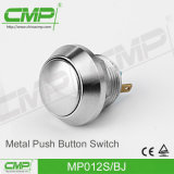 Commutateur de bouton poussoir plaqué par cuivre du CMP 12mm avec la tête ronde