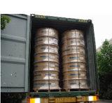 Waagerecht ausgerichteter Wundring um kupfernes Gefäß 120kg/Coil