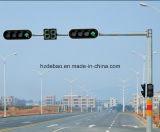 電流を通された交通信号の鋼鉄ポーランド人