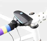 2 In1 Cyclisme USB Rechargeable Bicyclette Bell LED Front Head Lights Lamp Bike Horn
