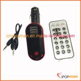 Transmissor estereofónico do mini carro Hands-Free FM de Bluetooth do jogador de MP3 do quadrado