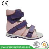 Высок-Отрежьте кожаный ботинки для предотвращать Анти--Varus сандалию