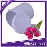 Rectángulo de empaquetado del regalo de papel de lujo de encargo y rectángulo redondo de la flor