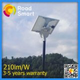 réverbère solaire complet du jardin 210lm/W avec la batterie du cycle 2000s'