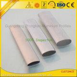 A fonte da fábrica personalizou a extrusão de alumínio oval anodizada