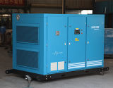 Dois compressor industrial inundado petróleo do parafuso de ar do estágio 8bar (KF185-8II)