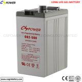 Batería 2V500ah de la célula del gel del uso 2V de la Sistema Solar de Cspower