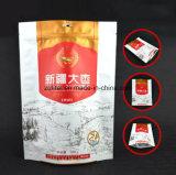 Saco de plástico de pé com 3 camadas do material do FDA para o pacote do alimento com o saco de plástico de pé do Zipper/