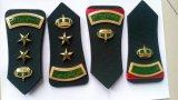Emblema militar de la fila del hombro de la policía del ejército