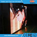 Placa de tela impermeável ao ar livre do diodo emissor de luz da cor cheia do arrendamento P6.67 de HD