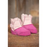 De Schoenen van het Meisje van de Baby van de Schapehuid van de manier in Roze/Rood