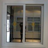 Окно цены UPVC изготовления фабрики Китая Foshan дешевое сползая стеклянное с решеткой