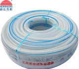 Mangueira reforçada trançada PVC da água da fibra (KS-16198SSG claramente)