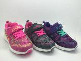 Chaussures de tricotage tissées de sports avec le Velcro