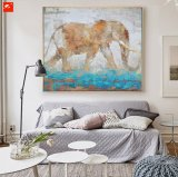 Animales de la fauna Foto de la pared Elephant Oil Painting