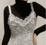 Señora sin mangas por encargo Short Dress de la honda de la alineada elegante