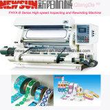 Fhyb de alta velocidad de inspección de película de plástico y máquina de rebobinado