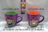 De hete Mok van het Beeldverhaal van de Verkoop Met de hand gemaakte Artistieke 3D voor Koffie met Magneet