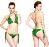 Rüschen zwei Stücke reizvolle Handhäkelarbeit-Bikini-Badebekleidungs-Wäsche-Badebekleidungs-
