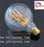 Luz branca da economia de energia do agregado familiar do parafuso do bulbo 85V-265V E27 do filamento do diodo emissor de luz do globo do leite