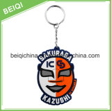 Fabricação Custom Keychain de borracha macia Keychain 3D Chaveiro Chaveiro